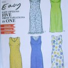 Simplicity 6943 shift dress sizes 6 8 10 12 14 16 UNCUT sewing pattern