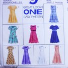 McCall 8107 easy pattern dress sizes 16 18 20 UNCUT
