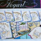 Vogart transfer pattern 104 vintage Busy Pups day of week towel embroidery stamps
