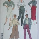 Simplicity 7707 UNCUT patterns sizes 10 12 14 misses culottes skirt and pants