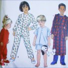Simplicity 8493 child pajama robe sewing pattern sizes 3 4 5 6