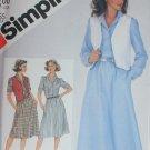 Simplicity 5409 misses pullover shirtdress vest size 14 bust 36 UNCUT pattern