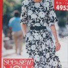 Butterick 4953 pullover dress sizes 6 8 10 12 14 UNCUT sewing pattern