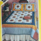 Simplicity 6145 patchwork quilt pattern in four sizes pillow sham UNCUT