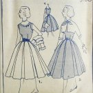 Simplicity 3760 misses blouse skirt bolero size 14 vintage 1951 sewing pattern
