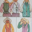 McCall 6159 misses vests 3 designs size 12 sewing pattern