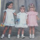 Simplicity 6352 toddler girls dress and panties sizes S 1/2 to 1 and M 2 and 3 sewing pattern