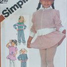 Simplicity 5775 girls pants mini skirt panties top jacket UNCUT size M 3 4 pattern