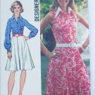 Simplicity 5619 dress flared skirt size 16 bust 38 vintage 1973 pattern