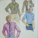 Simplicity 5325 mans shirt size 15 1/2 neck chest 40 vintage 1972 pattern