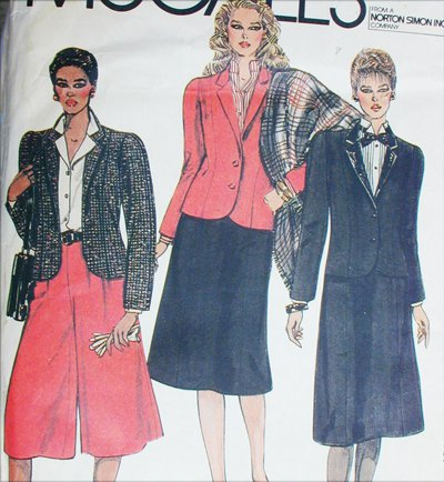 McCall 8235 misses culottes skirt jacket size 10 UNCUT sewing pattern