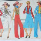 McCall 5638 misses jacket vest culottes pants size 12 vintage 1977 pattern