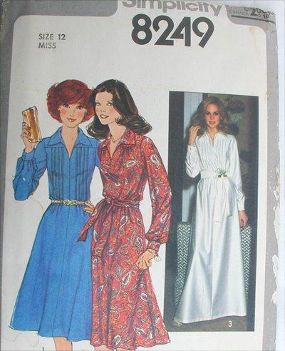 Simplicity 8249 misses dress size 12 vintage 1977 UNCUT