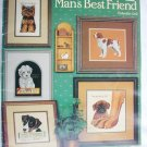 Cross stitch booklet Man's Best Friend 8 dog pattern designs