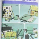 Simplicity 4391 craft sewing pattern misses purses bags phone cases UNCUT