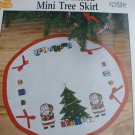 Cross stitch mini tree skirt Christmas design partial kit no floss