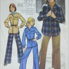 Simplicity 5854 vintage 1973 pattern unlined shirt jacket size 12