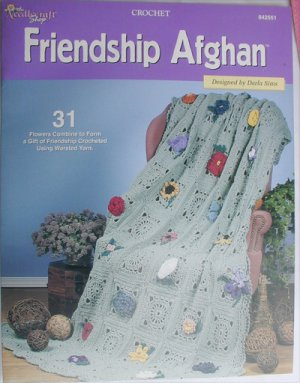 Needlecraft Shop Friendship Afghan pattern 31 flowers