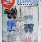 Leisure Arts 2858 slippers for the family 9 to crochet in 3 sizes