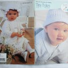 Coats Tiny Tykes knit and crochet for baby layette set dress blankets