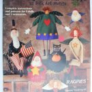 Fanciful Flannels in Folk Art Motifs 5 dolls 2 ornaments craft pattern booklet