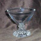 5 Anchor Hocking burple glasses sherbert champagne stems clear glass vintage