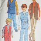 Simplicity 9336 boys pants vest shirt size 3 chest 22 sewing pattern