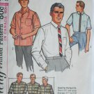 Simplicity 5689 man's shirt size 15 1/2 neck sewing pattern 1964 vintage