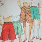Simplicity 7212 misses culottes size 26 waist cut pattern hip 36