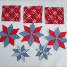 Craft appliques denim like fabric 5 stars 3 squares