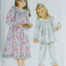 Simplicity 9296 girl nightgown or pajamas UNCUT pattern sizes 3 4 5 6 7 8