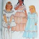 Butterick 6324 girls flower girl fancy dress & petticoat size 4 UNCUT