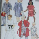 McCall 6246 pattern robe nightshirt PJs with pants or shorts UNCUT sizes 2 4 pattern