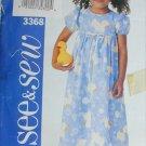 Butterick 3368 girls dress sizes 2 3 See & Sew pattern