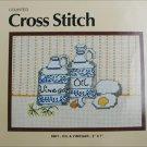 Cross stitch craft kit Dritz oil and vinegar 5 x 7 embroidery design