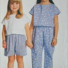 Butterick 6185 see & sew pattern child's top pants shorts sizes 2 3