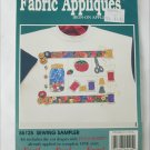 Fabric appliques iron on kit sewing items thread scissors MIP