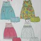 Simplicity 6072 New Look child's pattern dress sizes 1/2 1 and 2