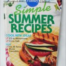 Pillsbury cookbook Simple Summer Recipes to grill or microwave cook book