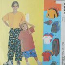 McCall 9206 childs 4 5 6 pattern T shirt pants hat shorts