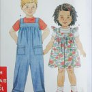 Simplicity 9897 toddler child romper jumper sundress sizes 1/2 1 2 3 4 5 6 pattern
