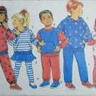 Butterick 5664 childs boy girl sewing pattern top pants leggings size 4 5 6
