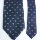 "Royal Knight all silk man's necktie navy with red/gold pattern 3"" width"
