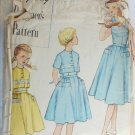 Simplicity 8296 girls size 10 vintage sleeveless dress & jacket pattern 1950