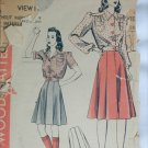 Vintage Hollywood pattern 475 skirt blouse circa 1940s misses size bust 34