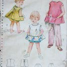 Simplicity 4884 vintage 1953 girls apron shorts slacks size 6 breast 24 sewing pattern