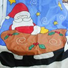 Christmas garden outdoor flag banner Santa in sled 28x44 inches