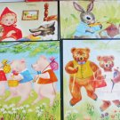 4 Vintage Whitman story frame puzzles Red Riding Hood Three Bears Pigs Peter Rabbit