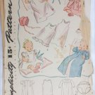 Simplicity 3506 vintage baby layout pattern Christening dress kimono circa 1950