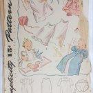 Simplicity 3506 vintage baby layout pattern Christening dress kimono circa 1950